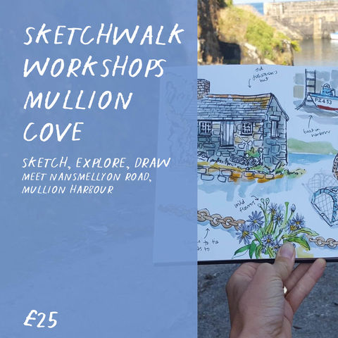 2,hr,Sketchwalk,Workshops,Mullion,Cove,workshop, art class, sketch workshop, cornwall, mullion, sketchwalk, mullion harbour, mullion cove, national trust,