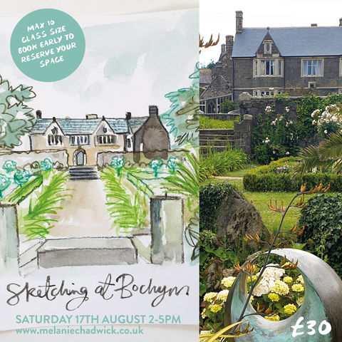 Sketching,at,Bochym,Manor,Field,Trip,17th,August,class, sketching, sketch club, bochym, mullion, cornwall, things to do, adult class, art class,
