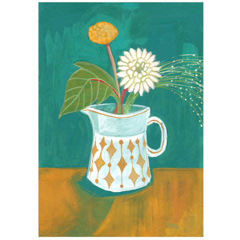 Gold,Diamonds-Original,24x30cm,Painting,-,by,Melanie,Chadwick,gouache painting, original, melanie chadwick, plant, still life