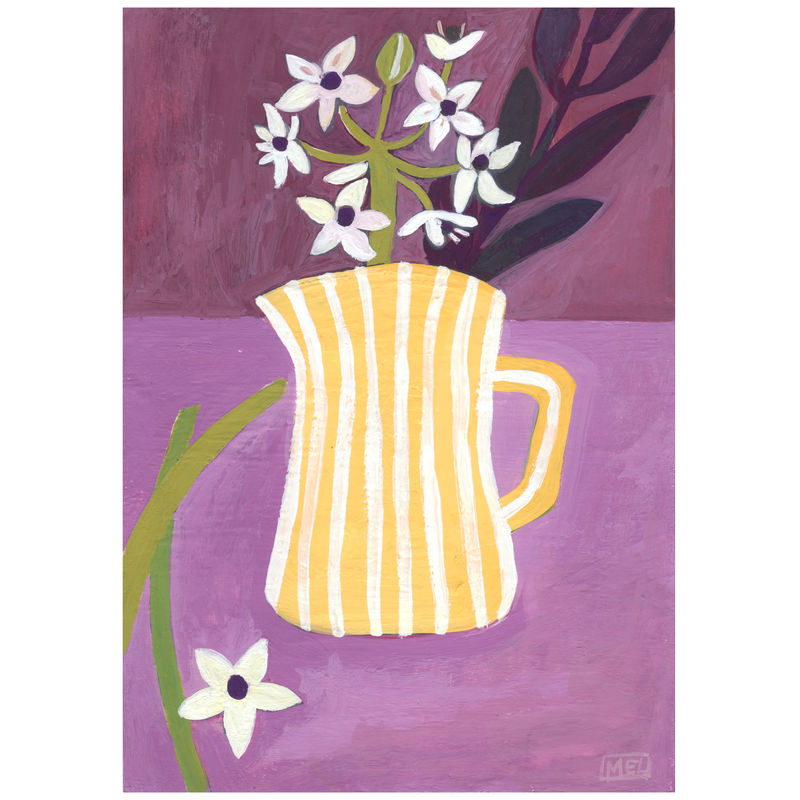 Stripy Jug-Original 24x30cm Painting - by Melanie Chadwick  - product images  of