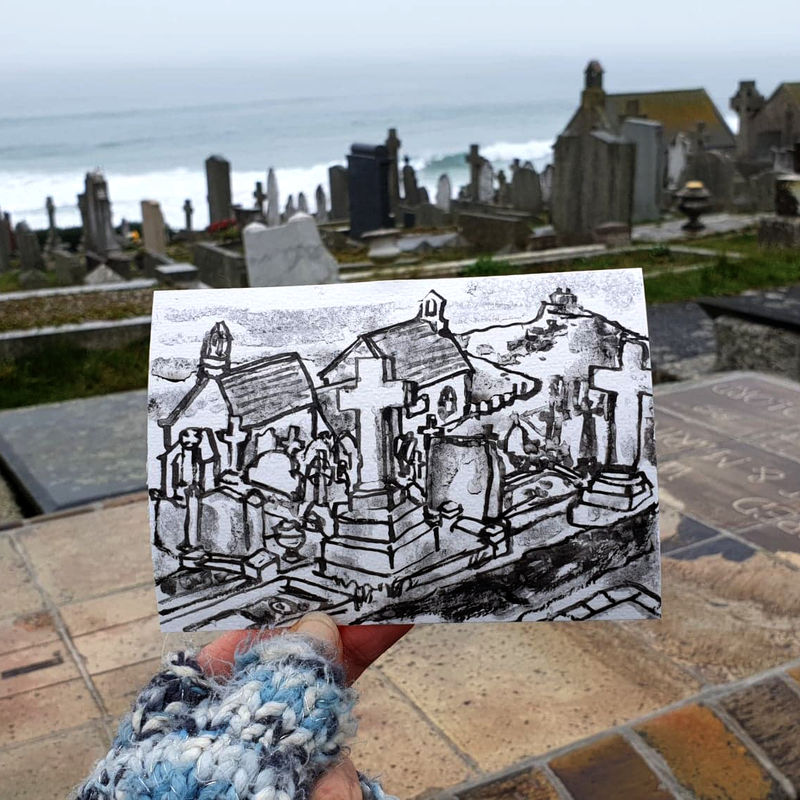 #8 Alfred Wallis Grave Site, St. Ives | Postcard Project - product images  of