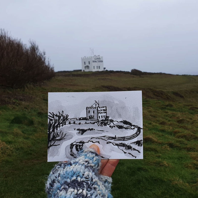 #33 Lloyds Signal Station, Lizard Peninsula, Cornwall | Postcard Project - product images  of