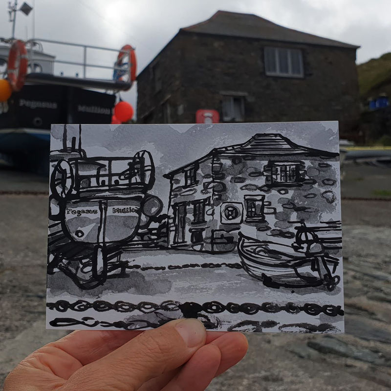 #198 Boats and chains, Mullion Cove, Cornwall - product images  of