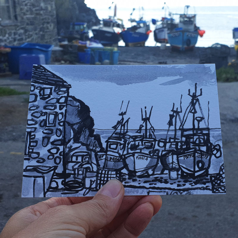 #204 Fishing boats, Cadgwith Cove, Cornwall - product images  of