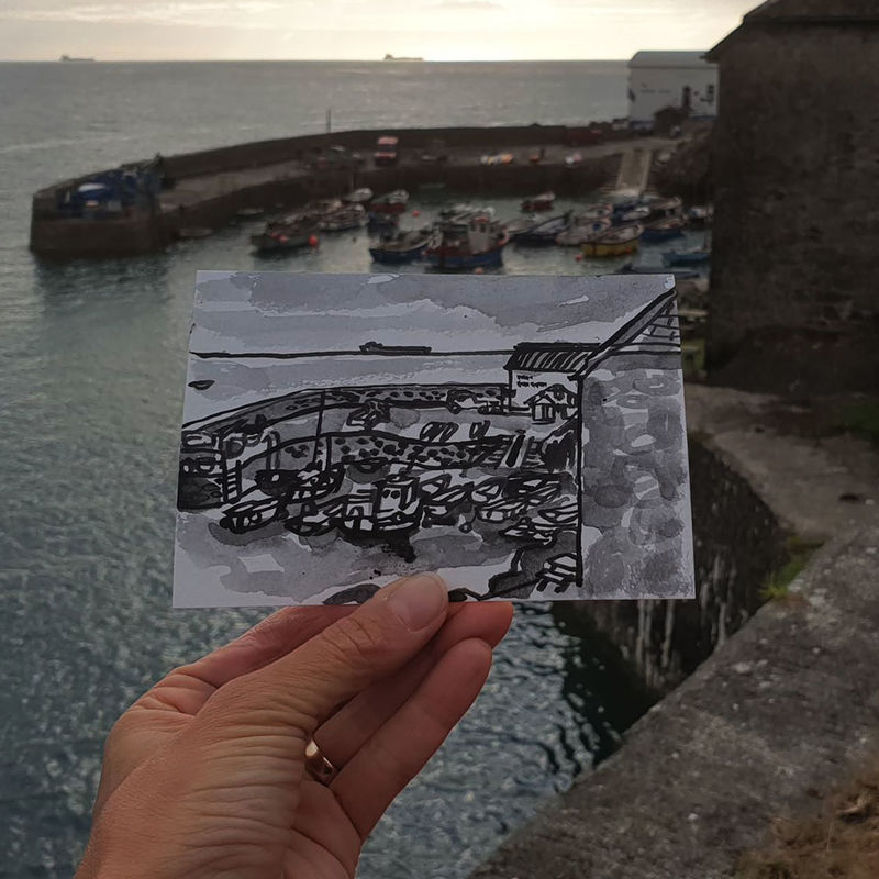 #236 Coverack Harbour, Cornwall - product images  of