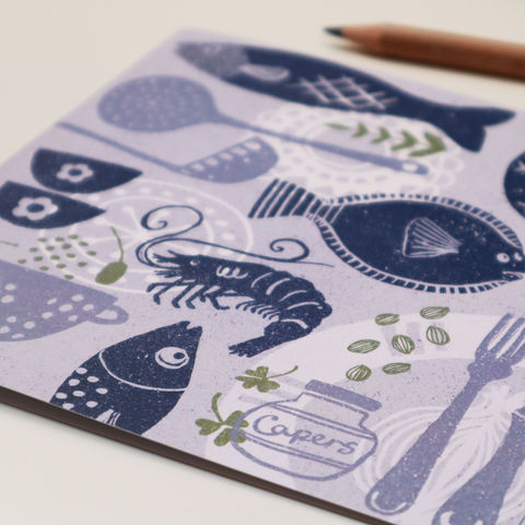 Fish,Supper,Greetings,Card,fish card, greeting card, kitchen,