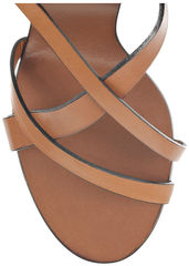 74f9e81e840639 Chloé - Wooden Wedge Leather Sandals - Cookoo
