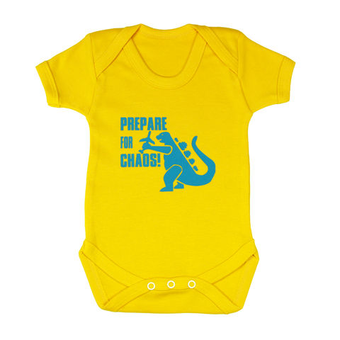 Prepare,for,chaos,-,Mellow,Yellow,Edition,Childrens wear,Baby clothes,Bodysuit,baby_wear,baby,onesie,prepare_for_chaos,godzilla,baby_bodysuit,Baby_godzilla,baby_grow,Baby_Onesie,godzilla_Onesie,chaos_baby,baby_godzilla_onesie,baby_clothes
