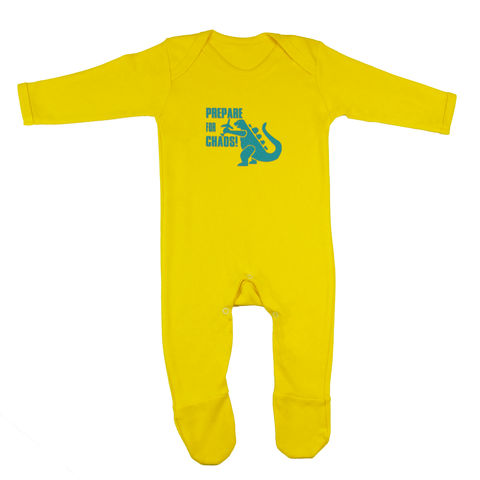 Prepare,for,Chaos,Romper,Suit,-,Yellow,Edition,Childrens wear,Baby clothes,Bodysuit,baby_wear,baby,onesie,prepare_for_chaos,godzilla,baby_bodysuit,Baby_godzilla,baby_grow,Baby_Onesie,godzilla_Onesie,chaos_baby,baby_godzilla_onesie,baby_clothes,cotton,thermal print