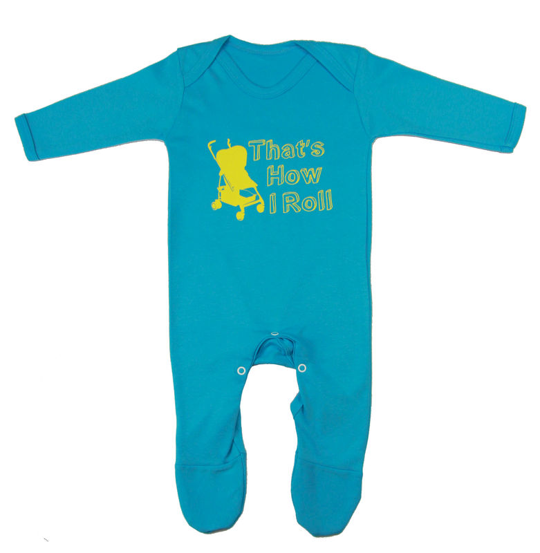 That's How I Roll Romper Suit - Turquoise Edition - product image