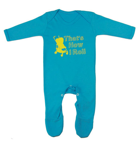 That's,How,I,Roll,Romper,Suit,-,Turquoise,Edition,Childrens wear,Baby clothes,baby_wear,baby,onesie,That's how i roll,Baby Cool,baby_Romper,Baby_fashion,baby_grow,baby_clothes,cotton,thermal print