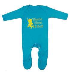 That's How I Roll Romper Suit - Turquoise Edition - product images 1 of 1