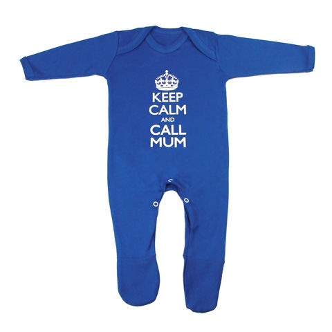 Keep,Calm,and,Call,Mum,Romper,-,True,Blue,Edition,Childrens wear,Baby clothes,baby_wear,baby,Keep Calm, Keep calm call Mum,clothes,cotton,thermal print