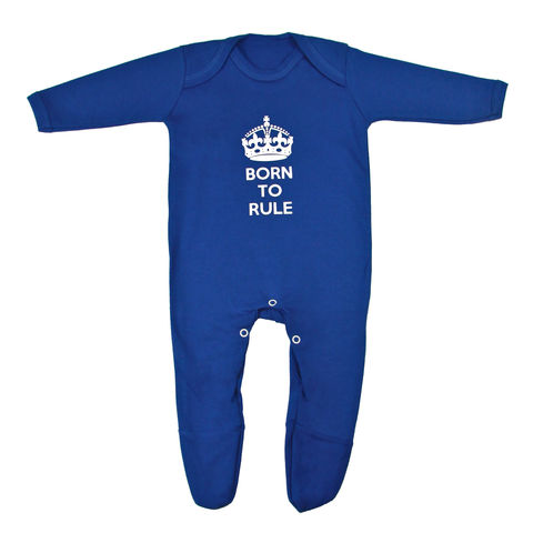Born,to,Rule,Romper,-,Electric,Blue,Edition,Childrens wear,Baby clothes,baby_wear,baby,Born to rule, Little Leader,clothes,cotton,thermal print