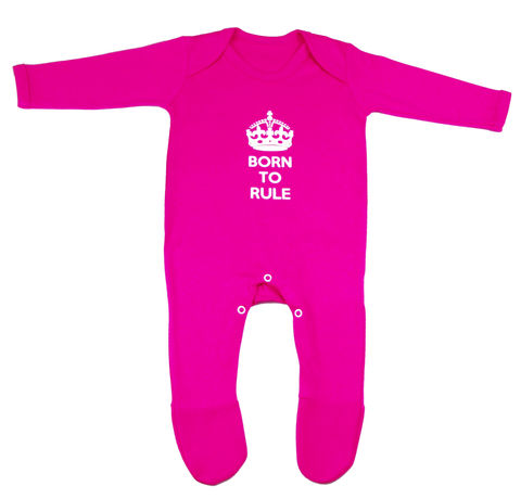 Born,to,Rule,Romper,-,Fuchsia,Edition,Childrens wear,Baby clothes,baby_wear,baby,Born to rule, Little Leader,clothes,cotton,thermal print
