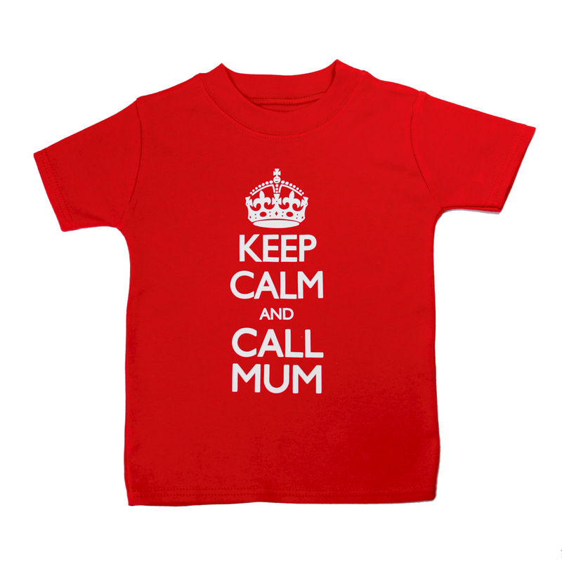 Keep Calm Call Mum - T-shirt Red Edition - product image