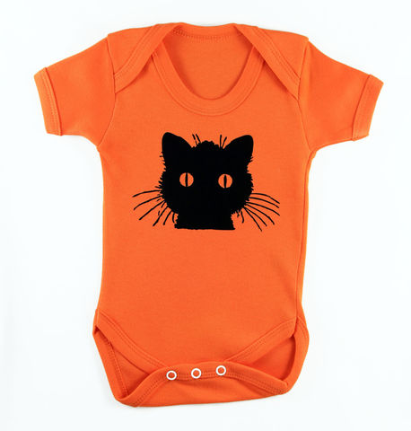 Black,Cat,-,Tangerine,Dream,Edition,Children,Baby,Bodysuit,Baby_bodysuit,baby_onesie,onesie,baby_grow,Black_Cat,Cat_Onesie,Girls_Onesie,Baby_Girl,Fuchsia,Cute_Cat,Baby_cat,Pink_Cat,cotton,thermal print