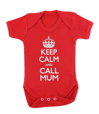 Keep,Calm,and,Call,Mum,Childrens wear,Baby clothes,Bodysuit,Baby_bodysuit,baby_onesie,onesie,baby_grow,Keep Calm and Carry on,Keep calm and call mum