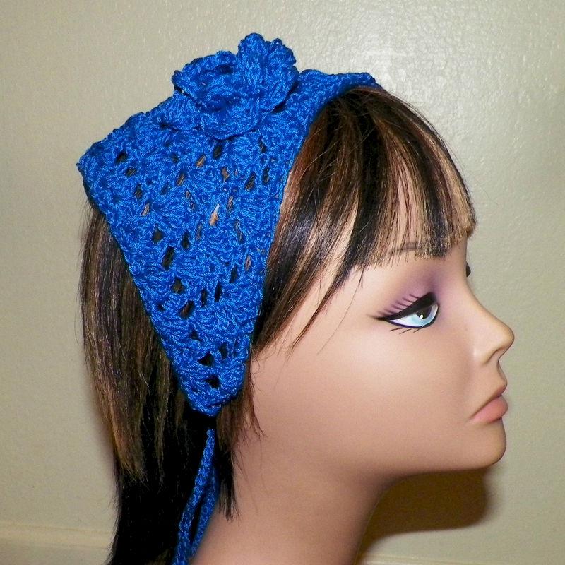 Blue Hair Bandana