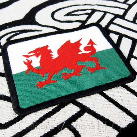Welsh,Flag,Sew,On,Patch,Handmade,of,Wales,Badge,with,Red,Dragon,Welsh Flag, Flag of Wales, Welsh Patch, Celtic Patch, Handmade Badge, Welsh Badge