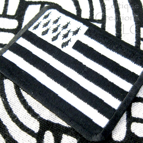 Flag of Brittany Sew On Patch Handmade Breton Celtic Nation Badge - product images  of