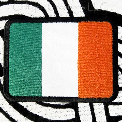 Irish,National,Flag,Sew,On,Patch,Ireland,Tricolor,Embroidered,Badge,Irish Flag Patch, Ireland National Tricolor Badge, Sew On Irish Flag, Handmade Flag Patch