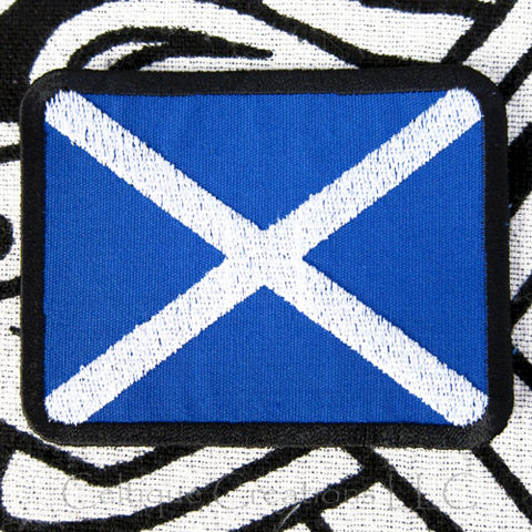 Scottish,Flag,Sew,On,Patch,St.,Andrew's,Cross,Badge,Handmade,Saltire,Flag of Scotland, Scottish National Flag Patch, Saltire Badge, St. Andrew's Cross