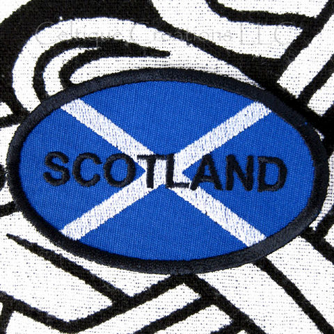 Scotland,Saltire,Sew,On,Patch,Scottish,Flag,Handmade,Oval,Badge,Scottish Badge, Scottish Pride, Scotland Flag, Sew On Patch, Saltire, St. Andrew's Cross