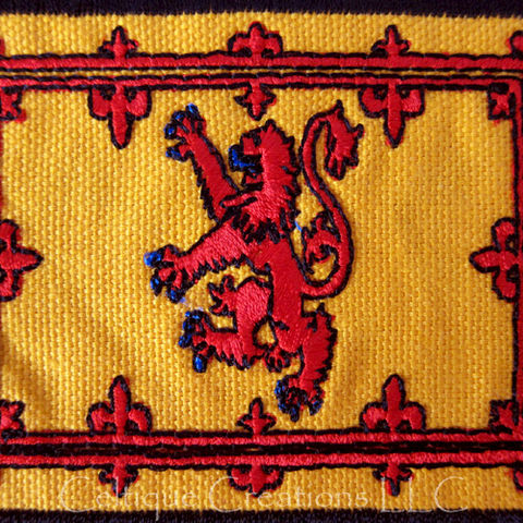 Scottish Royal Standard Sew On Patch Handmade Scotland Flag Badge - product images  of