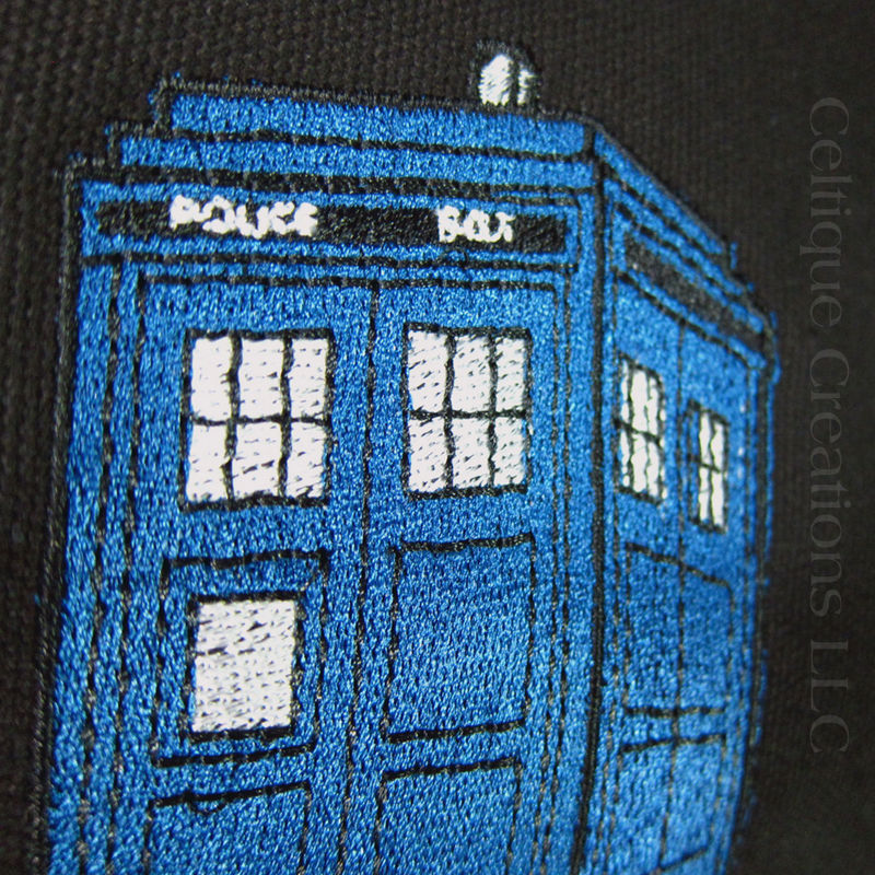 UK Police Box Engineer Messenger Bag Embroidered Canvas Carry All - product images  of