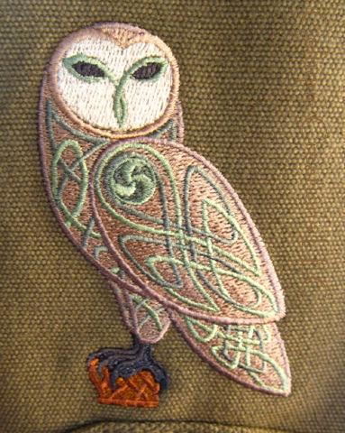 Celtic Owl Engineer Messenger Bag Embroidered Knotwork Bird - product images  of