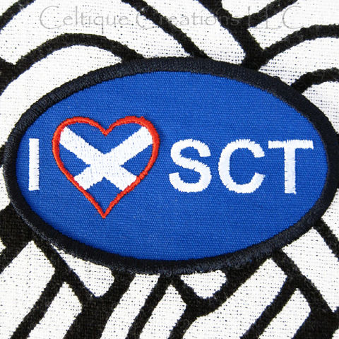 Sew,On,I,Heart,Love,Scotland,Patch,Badge,St.,Andrews,Cross,Embroidery,Scotland Sew On Patch, I Love Scotland Patch, Scotland Sew On Badge, Handmade I love Scotland Badge
