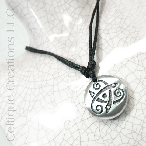 Celtic,Spiral,Triskele,Fine,Pewter,Adjustable,Necklace,Celtic Spiral Necklace, Celtic Jewelry, Celtic Necklace, Celtic Triskele Necklace, Celtic Fine Pewter Jewelry, Celtic Pewter Necklace, Celtique Creations