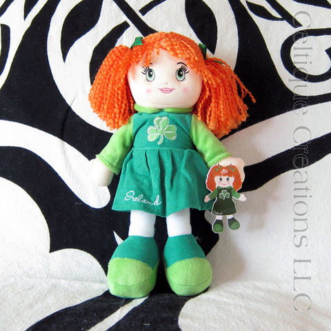 Ireland,Soft,Rag,Doll,Redhead,Toy,irish rag doll, Irish doll, Irish soft doll, Ireland doll, redheaded rag doll, celtique creations