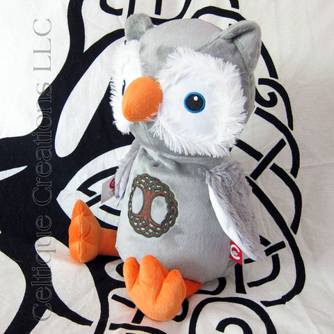 Celtic Owl Cubbies Stuffed Animal with Tree of Life Embroidery - product images  of