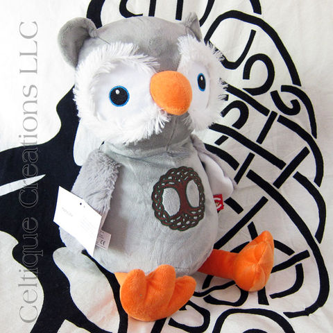 Celtic,Owl,Cubbies,Stuffed,Animal,with,Tree,of,Life,Embroidery, Owl, Owl Stuffed Animal, Owl Soft Toy, Celtic Owl, Tree of Life, Celtique Creations