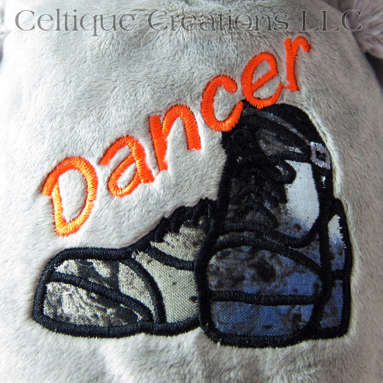 Irish Dancer Cubbies Owl Stuffed Animal with Hard Shoe Embroidery - product images  of