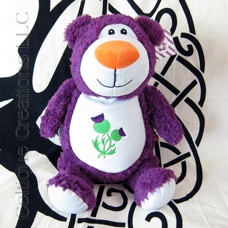 Scottish Thistle Cubbies Teddy Bear Stuffed Animal Purple Soft Toy - product images  of