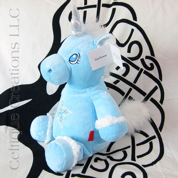 Celtic Blue Cubbies Unicorn with Celtic Star Embroidery - product images  of