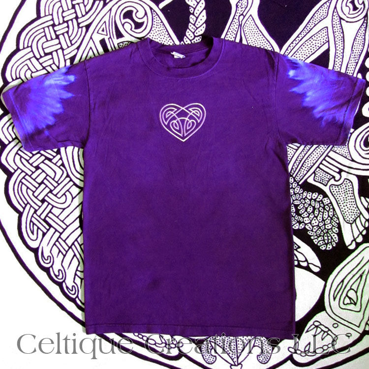 Celtic Heart Tie Dye Purple T-Shirt - product images  of