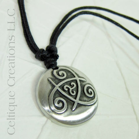 Double,Celtic,Triskele,Adjustable,Fine,Pewter,Necklace,Celtic Triskele, Celtic Triple Spiral Necklace, Celtic Jewelry, Celtic Pewter Necklace, Triple Spiral, Triskele, Triskelion, Celtic Necklace, Celtique Creations