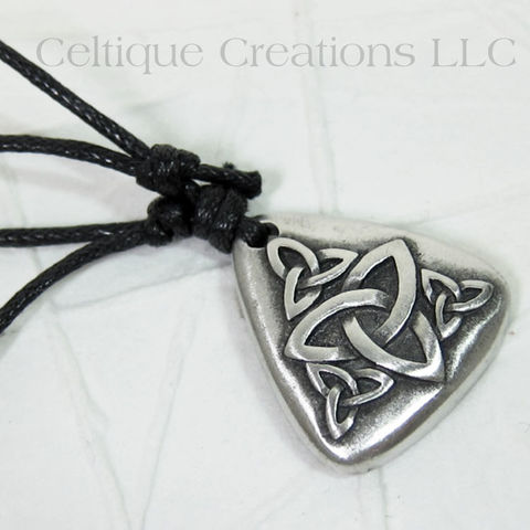 Celtic,Multiple,Trinity,Knot,Adjustable,Fine,Pewter,Necklace,Trinity Knot Necklace, Trinity Knot Pewter Necklace, Triquetra Necklace, Celtic Trinity Necklace, Celtic Jewelry, Celtique Creations