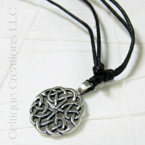 Intricate,Celtic,Knotwork,Fine,Pewter,Adjustable,Necklace,Celtic Jewelry, Celtic Necklace, Celtic Pewter Necklace, Celtic Knotwork Necklace, Adjustable Celtic Necklace, Celtique Creations