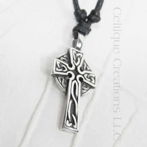 Celtic,High,Cross,Adjustable,Fine,Pewter,Necklace,Celtic Cross Necklace, Pewter Celtic Necklace, Celtic Cross Adjustable Necklace, Adjustable Celtic Necklace, Celtic Jewelry, Celtique Creations