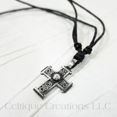 Bold,Celtic,Cross,Fine,Pewter,Adjustable,Necklace,Celtic Cross Necklace, Pewter Celtic Necklace, Celtic Cross Adjustable Necklace, Adjustable Celtic Necklace, Celtic Jewelry, Celtique Creations