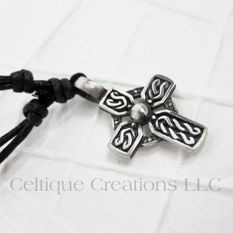 Celtic,Cross,Twist,Knot,Necklace,Adjustable,Fine,Pewter,Celtic Cross Necklace, Pewter Celtic Necklace, Celtic Cross Adjustable Necklace, Adjustable Celtic Necklace, Celtic Jewelry, Celtique Creations