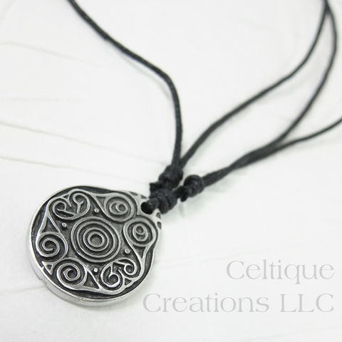 Celtic,Battersea,Shield,Fine,Pewter,Adjustable,Necklace,Battersea Shield, Battersea Shield Pendant, Celtic Necklace, Celtic Spiral, Celtic Spiral Necklace, Celtic Jewelry, Celtique Creations