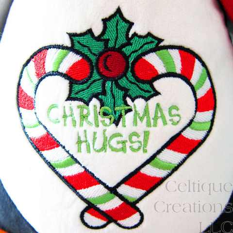 Christmas Hugs Penguin Cubbies Embroidered Stuffed Animal - product images  of
