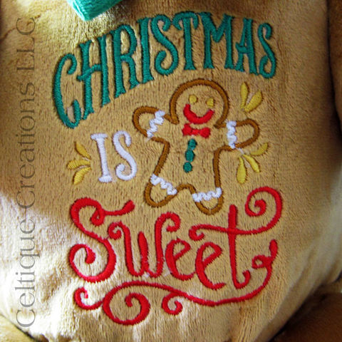 Christmas Gingerbread Man Cubbies Stuffed Toy - product images  of