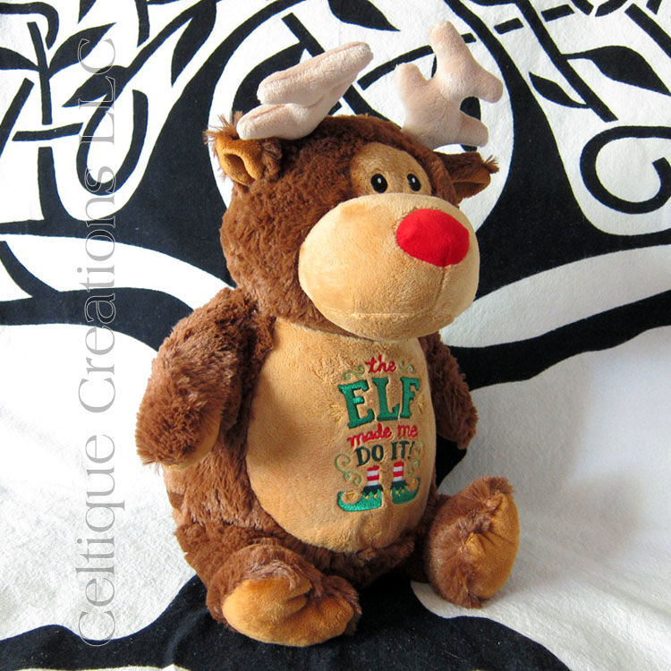 Reindeer Cubbies Stuffed Animal Christmas Troublemaker - product images  of